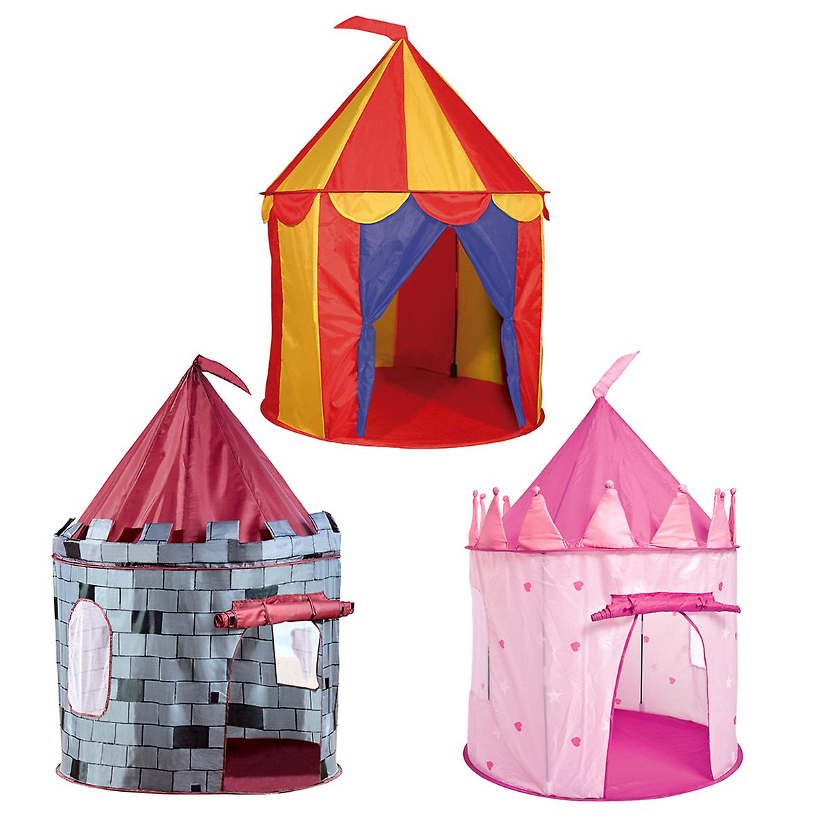 Children's Round  Kids Pop up Play Tent Indoor Outdoor - Princess and Knight Castle Available