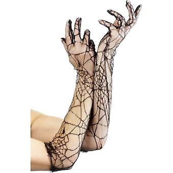 Smiffy's Spiderweb Lace Gloves
