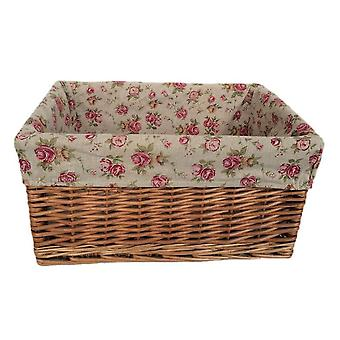 Large Double Steamed Garden Rose Willow Storage Baskets