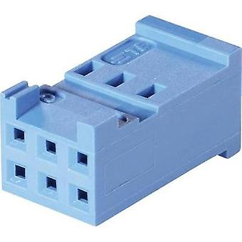 Socket enclosure - cable AMPMODU HE13/14 Total number of pins 12 TE Connectivity 281839-6 Contact spacing: 2.54 mm 1 pc(
