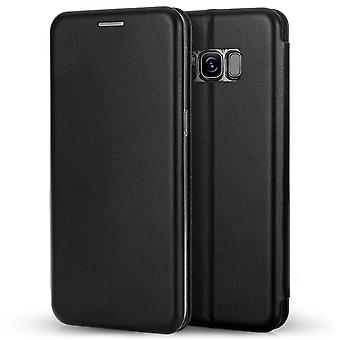 Caseflex Samsung Galaxy S8 Snap Wallet Case Black (Retail Box)