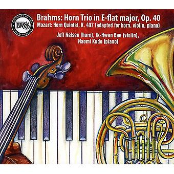 J. Brahms - Brahms: Horn Trio in E-Flat Major, Op. 40; Mozart: Horn Quintet, K. 407 [CD] USA import