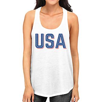 USA With Stars Womens Sleeveless Top Funny Independence Day Tanks