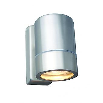 LED Robus Tralee GU10 Brushed Chrome Porch Wall Light