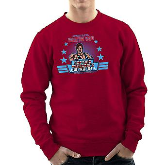 Captain Freedoms Workout Running Man Men's Sweatshirt