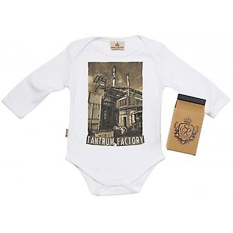 Spoilt Rotten Tantrum Factory Baby Grow 100% Organic In Milk Carton