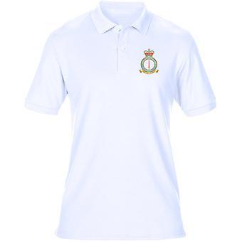 Leeming RAF Station broderad Logo - officiell Royal Air Force Mens Polo Shirt