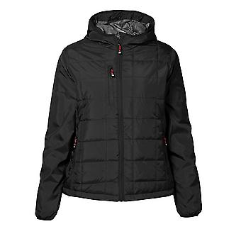 ID Womens/Ladies Hooded Full Zip Regular Fitting Quilted Jacket
