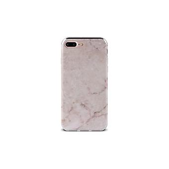 PURO iPhone 8/7/6/6S Plus, Marble Cover, pink