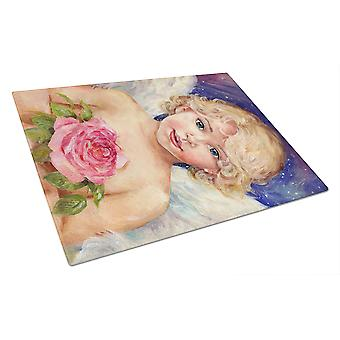 Little Angel by Debbie Cook Glass Cutting Board Large