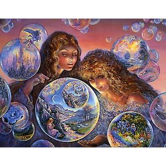 Bubble World Poster Print by Josephine Wall (36 x 24)