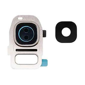 Samsung Galaxy S7 Edge cámara lente tapa oro