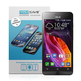 Yousave ASUS Zenfone 5 skjermbeskyttere - 3 Pack