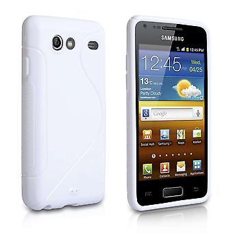 Caseflex Samsung Galaxy avanzar caso S-Line - blanco