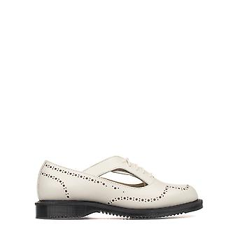 Dr.Martens women's DMSRUBOWPS20375103O White Leather lace-up shoes * damaged box *.