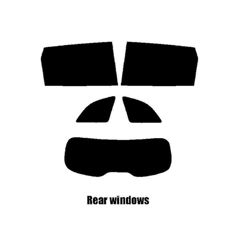 Pré coupé vitres teintées - Renault Koleos SUV - 2017 et plus récents - arrière fenêtres