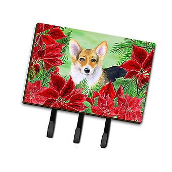 Carolines Treasures  CK1291TH68 Pembroke Corgi Poinsettas Leash or Key Holder