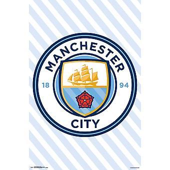 Manchester City - Logo affisch Skriv