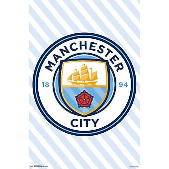 Manchester City - Logo Poster drucken