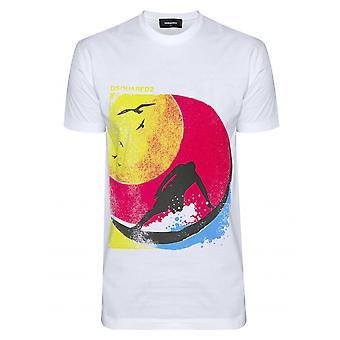 DSQUARED2 DSQUARED2 weißen Surfer T-Shirt