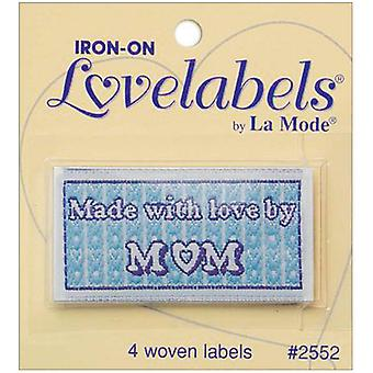 Iron On Lovelabels 4 Pkg Made With Love By Mom 2500 2552