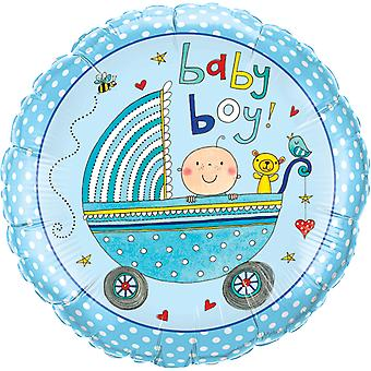 Foil balloon baby boy birth of shower party gender party about 45 cm