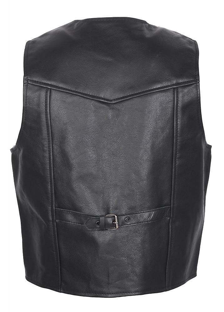 Attitude Clothing Western Style Leather Waistcoat