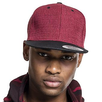 Flexfit MELANGE 2 tone Snapback Cap - red / black