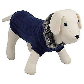 Nayeco Dog hooded sweater Blue 45 cm (Psy , Ubrania dla psów , Swetry i bluzy)