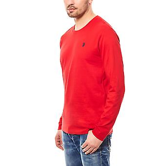 U.S. POLO ASSN. Shirt men's long sleeve shirt red Longsleeve