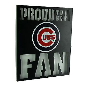 Proud To Be A Chicago Cubs Fan Cutout Metal Wall Sign