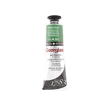 Daler Rowney Georgian aceite color ml 38-382 Viridian (Hue)