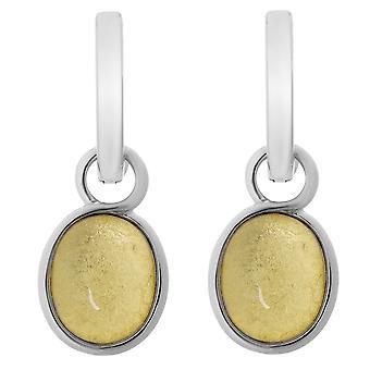 Orphelia argento 925 orecchino ovale oro foglio ZO-6040/2