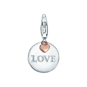 Esprit Anhänger Charms Silber Rosé Medal Love ESCH91587D000