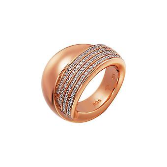 Joop women's ring silver Rosé cubic zirconia Zoe JPRG90596B