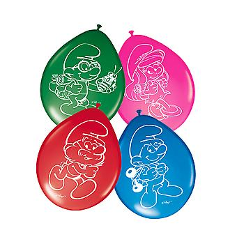 Balloon balloon balloon Smurf children party birthday 8 pieces
