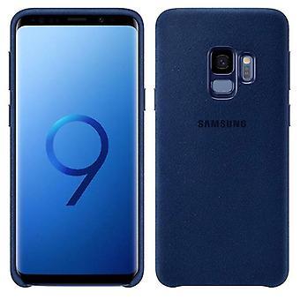 Pokrycie Samsung Alcantara EF XG960ALEGWW Galaxy S9 G960F torba sprawy sprawa niebieski