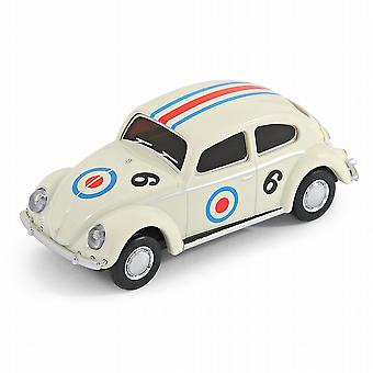 Oficial VW clásico Beetle Car USB Memory Stick 8Gb - blanco coche de carreras