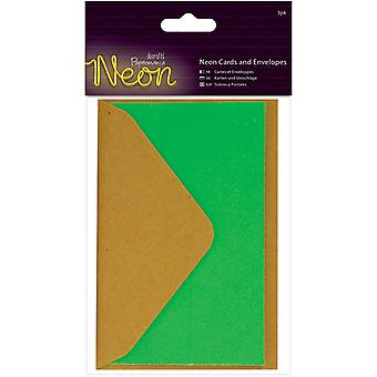Papermania Neon Gift Cards W/Envelopes 2.5