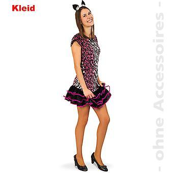 Pinky Cat Katze Damenkostüm Katzenkleid Leopard Teenager Damen Kostüm