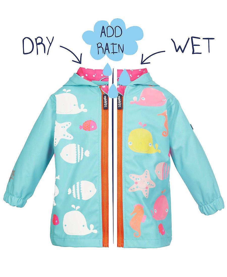 Squidkids Starfish Colour Changing Raincoat
