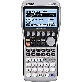 Casio fx-9860GII Graphing calculator Black-silver Display (digits): 21 battery-powered (W x H x D) 91.5 x 21.2 x 184 mm