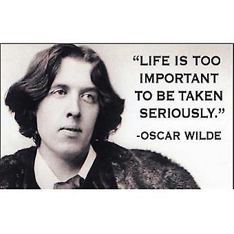 La vida es demasiado importante (Oscar Wilde) divertido Iman