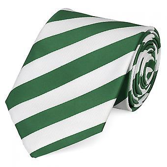 Cravate laine, cravate cravate 8cm vert rayé blanc Fabio Farini