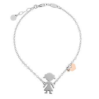 Orphelia Silver 925 Bracelet  Bicolor  Girl  17+1.5 cm  ZA-7390