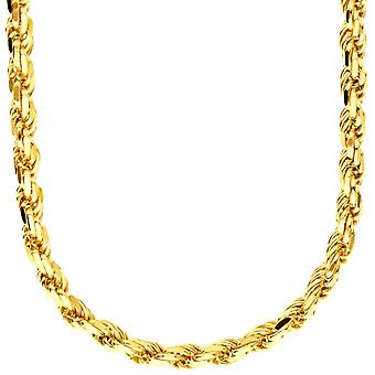 Sterling 925 Silver necklace - ROPE DC 5.6 mm gold