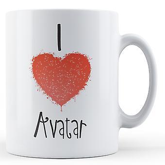 Dekoracyjne, pisanie I miłość Avatar Wydrukowano kubek