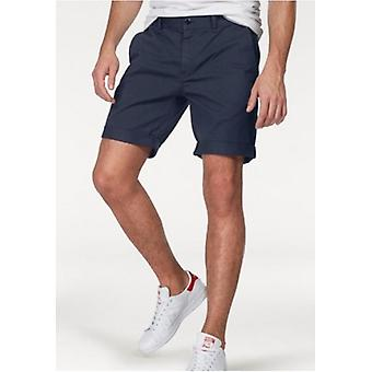 TOMMY JEANS stylish men's Chinoshorts with logo embroidery blue