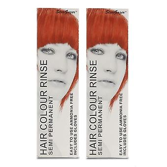 Stargazer Semi-Permanent Hair Colour Dye x 2 Packs Hot Red