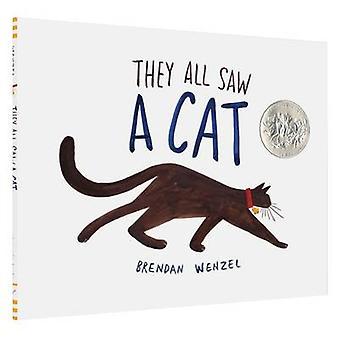 Ze allemaal zag een kat door Brendan Wenzel - 9781452150130 boek